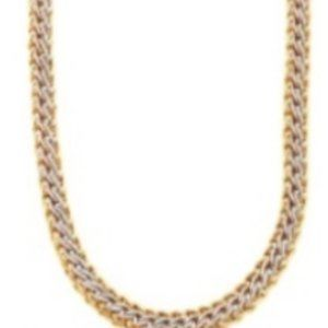 SILVER & GOLD BRADED LINKS NECKLACE